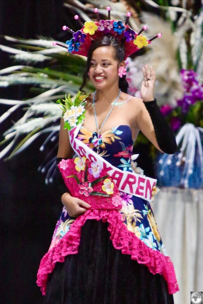 Some of the contestants represented different districts, such as Miss Yaren – Brutay Tatum.