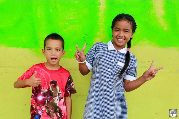 The children of Nauru are incredibly friendly and love posing for the camera.