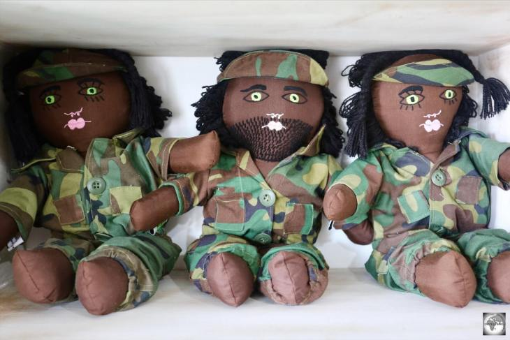 'Resistance Leaders in Camouflage' dolls, only available at Boneca de Ataúro in Dili.