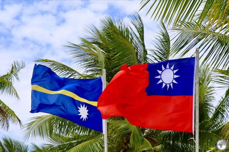 Nauru and Taiwanese Flag