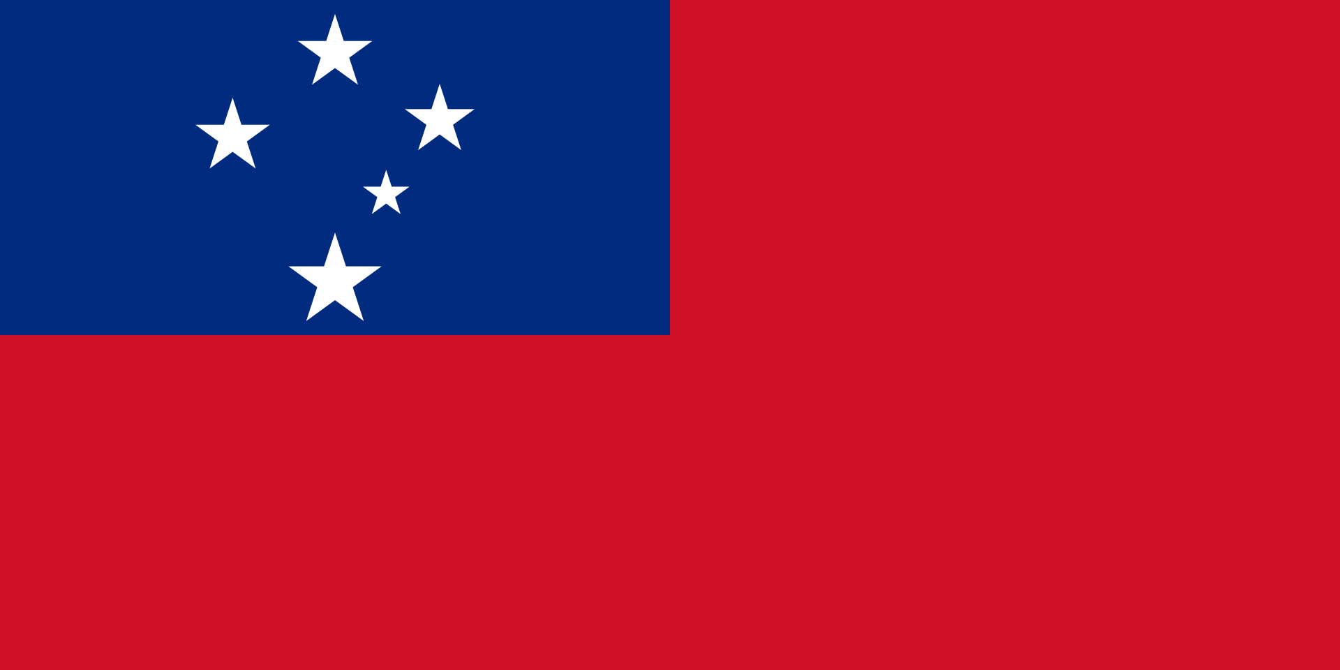 The flag of Samoa.