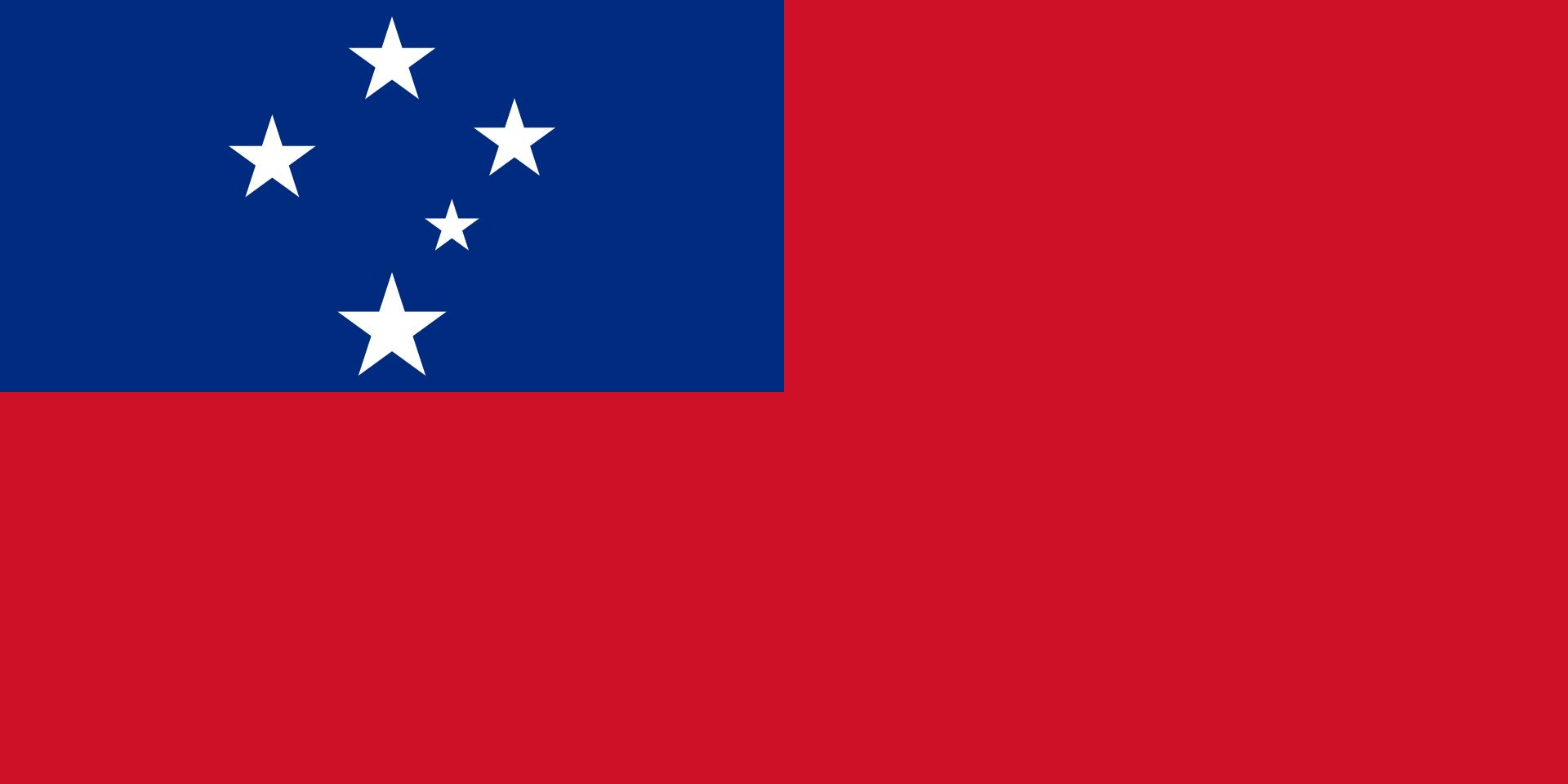 The flag of Samoa.