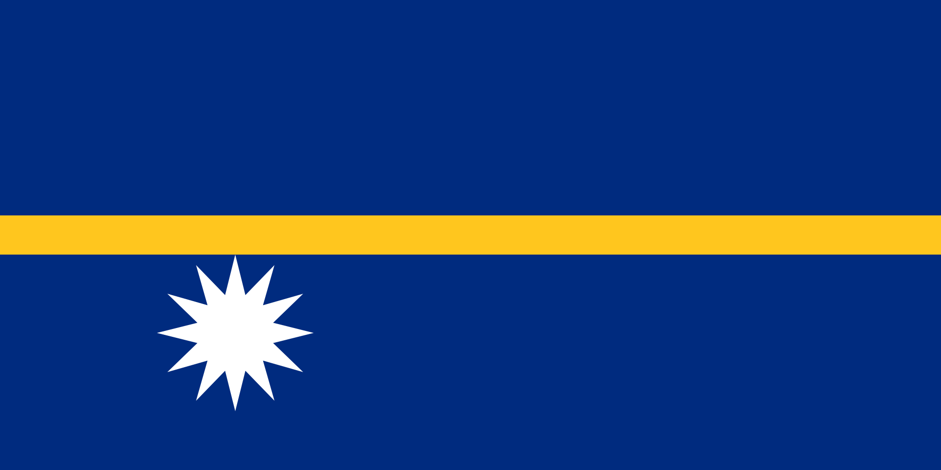 The flag of Nauru.
