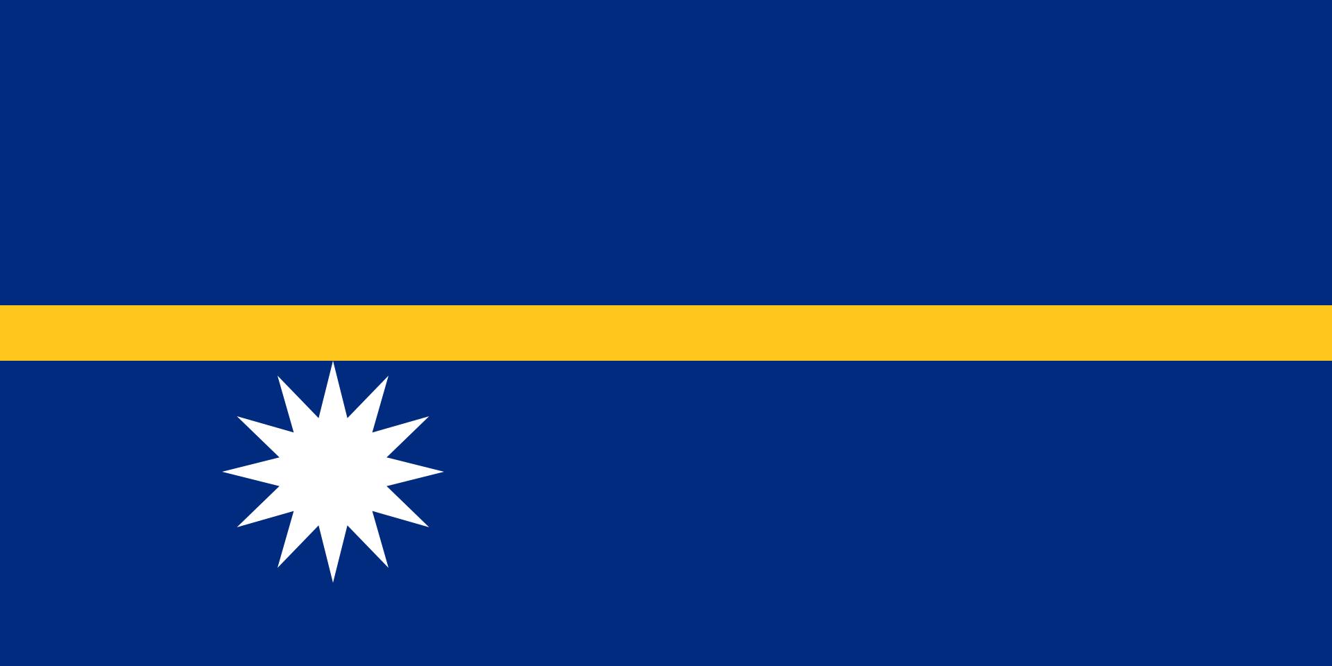 The flag of Nauru.