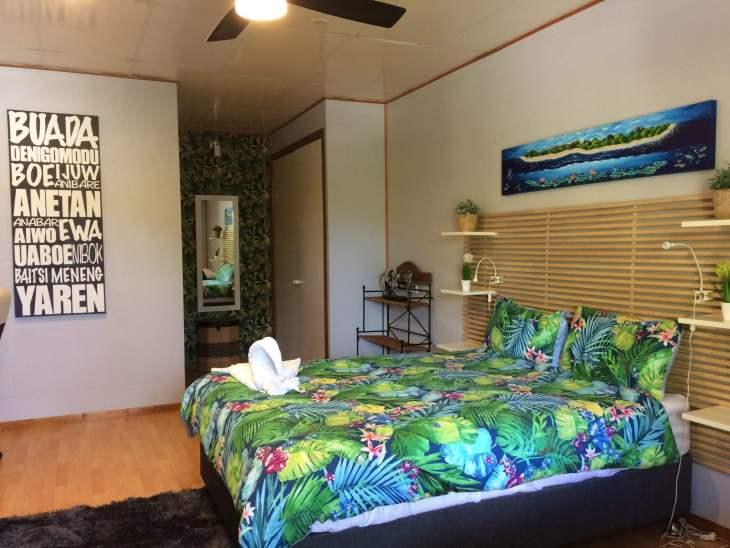 A room at the Ewa Lodge.