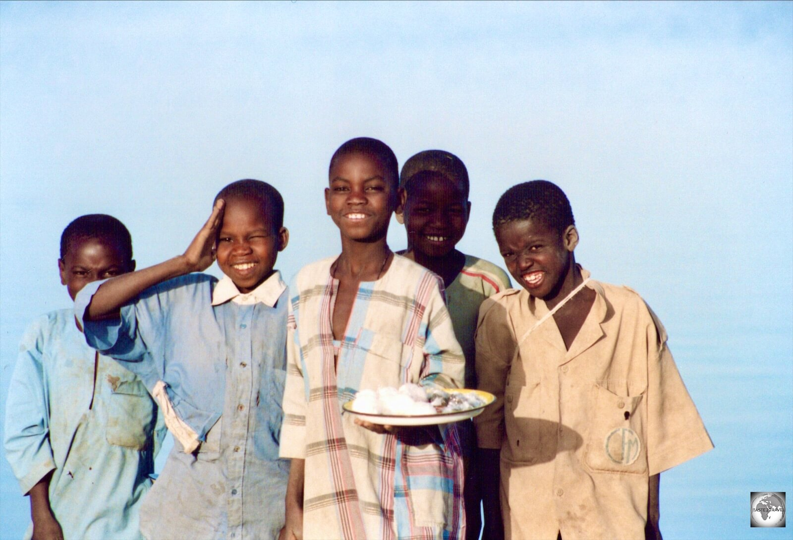 Boys on the bank of the river Niger in the northern town of Diré.