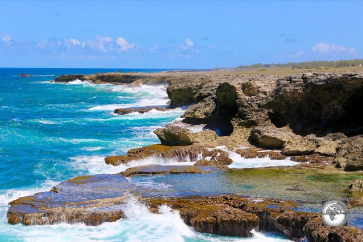 A view of the north coast of Barbados from North Point.