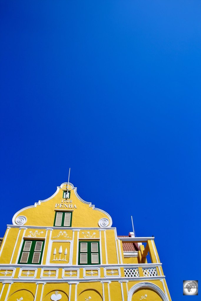 The Dutch-style Penha House stands out like a yellow beacon on the colourful Handelskade in downtown Willemstad.