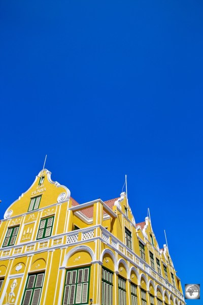 The iconic, Dutch-style, Penha House dominates the Handelskade in downtown Willemstad.