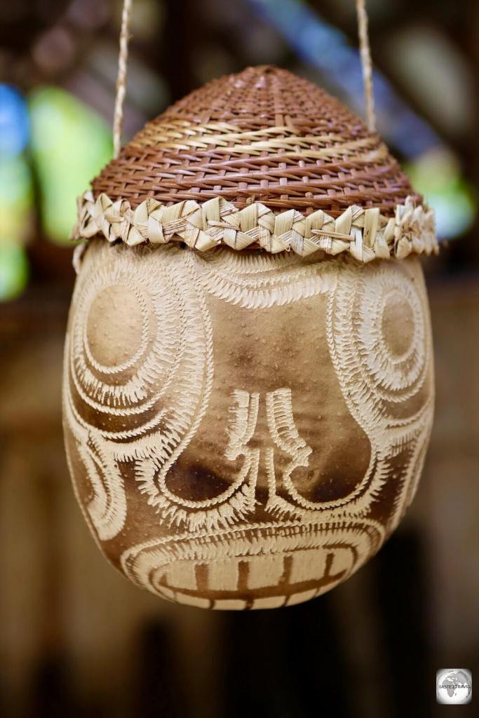 A traditional Kalinago carving, Dominica.