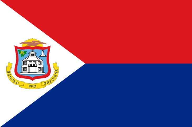 The flag of Sint Maarten.