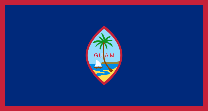The flag of Guam.