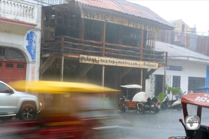 The daily afternoon downpour in steamy Iquitos.