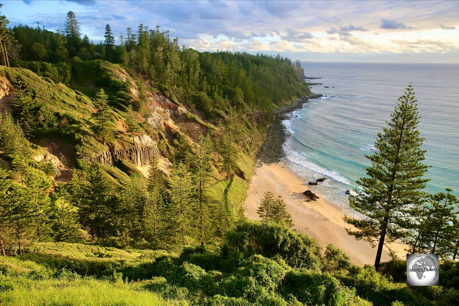 Sunset at Anson Bay, on the west coast of Norfolk Island.
