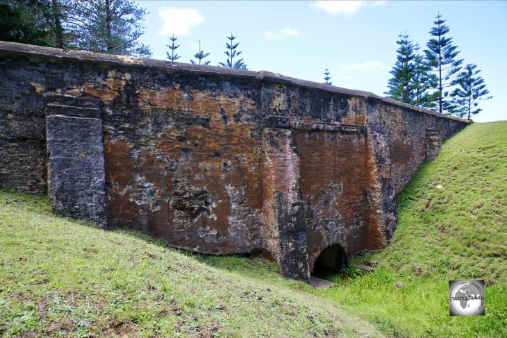 A view of Bloody Bridge on Norfolk Island.
