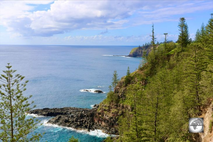 A view of the west coast of Norfolk Island from Puppy's Point Lookout.