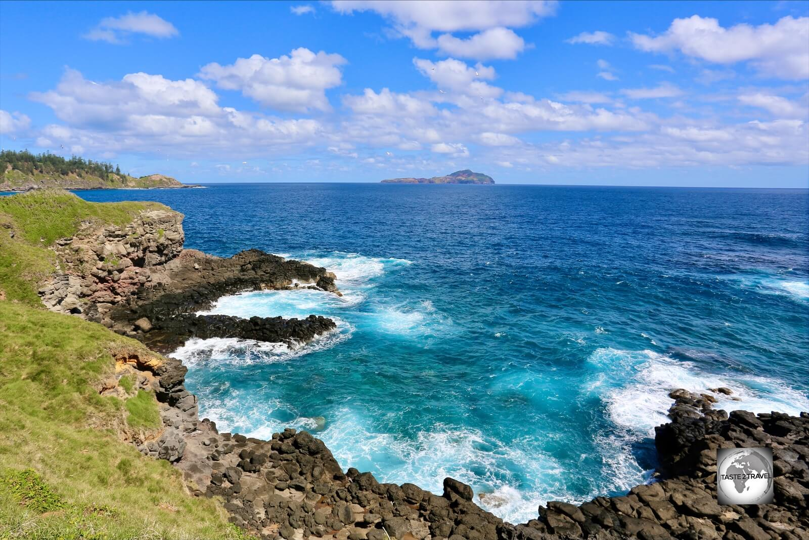 A view of the South Coast of Norfolk Island from the 100 Acres Reserve.