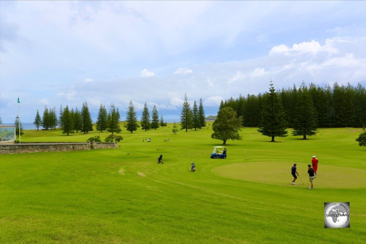Located in Kingston, the picturesque Norfolk Island Golf course is popular with residents and visitors.