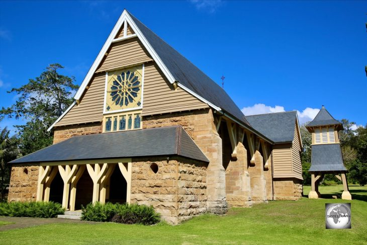 Completed in 1880, the very fine St. Barnabas Chapel was the principal church of the Church of England's missionary work in Melanesia.