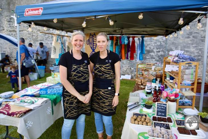 Sharyn (left) and Claire Quintal, the co-founders of Prinke Eco Store, at the Thanksgiving Food Festival in Kingston.
