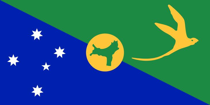 The flag of Christmas Island.