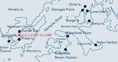 Goudier Island Location Map.