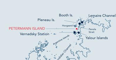 Petermann Island location map.