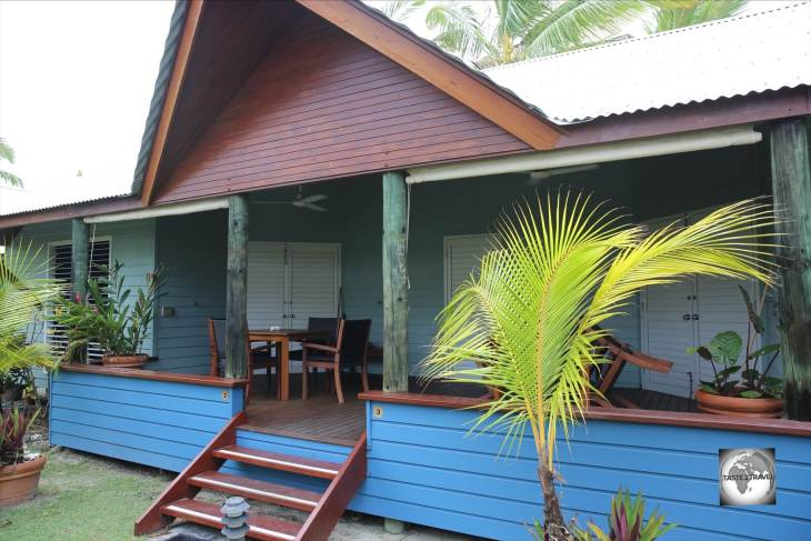 My bungalow at Cocos Village Bungalows on West Island.