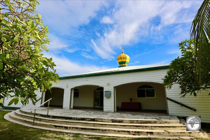 The one mosque on Home Island, where 75% of the population are practising Muslims.