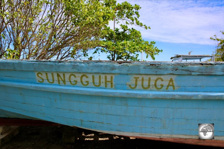 The Sungguh Juga jukong at the Cocos museum on Home Island.
