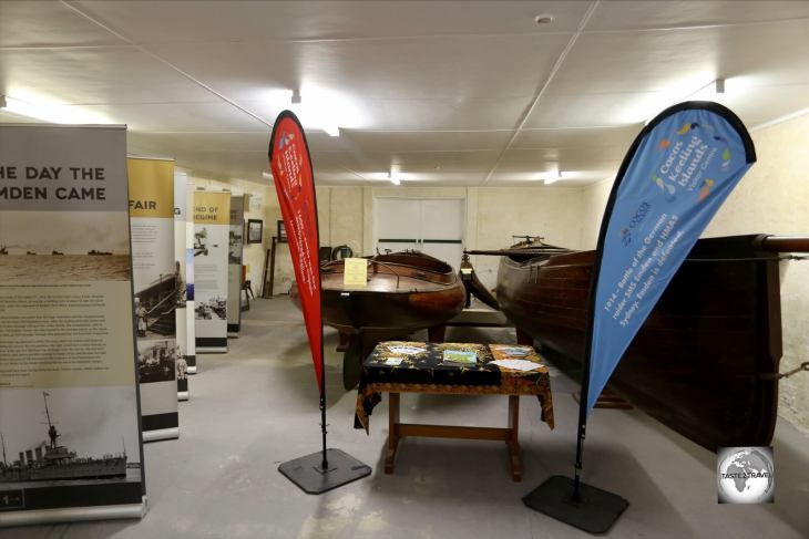 Displays at the Home Island Museum.