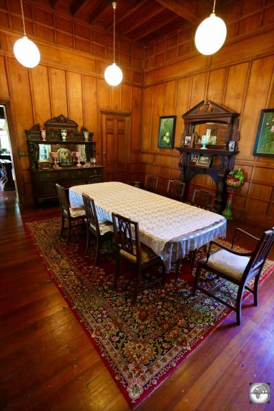 The dining room at Oceania House.
