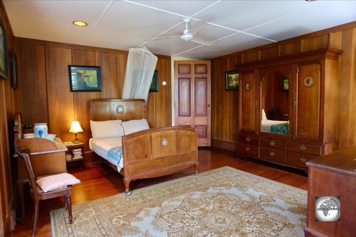 One of four guest rooms at Oceania House, the George room is named after George Clunies-Ross, the designer and builder of Oceania House.