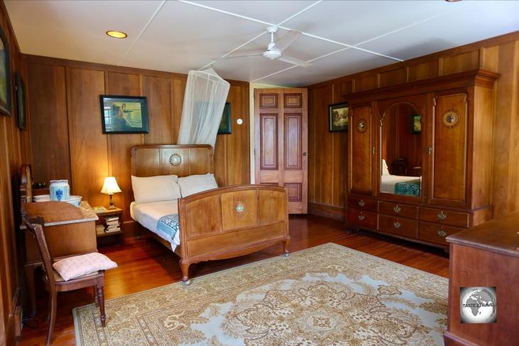 One of four guest rooms at Oceania House, the <i>George</i> room is named after George Clunies-Ross, the designer and builder of Oceania House.
