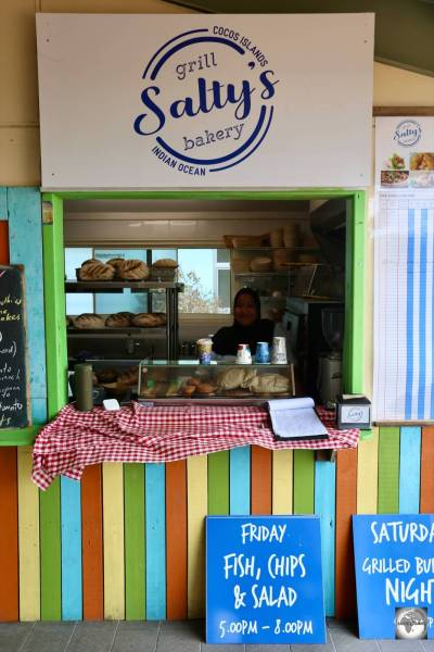 <i>Salty's Grill and Bakery</i>, home to the only freshly baked Sourdough on the Cocos (Keeling) Islands.