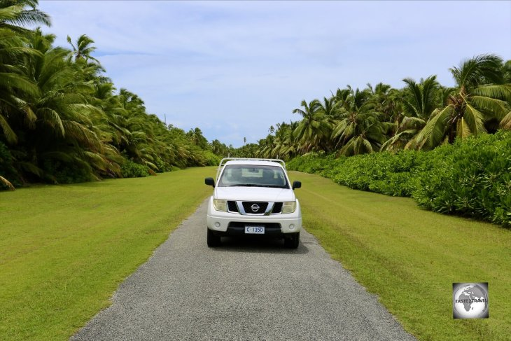 Driving my rental car on the one, main road with runs from the northern to the southern tip of West Island.
