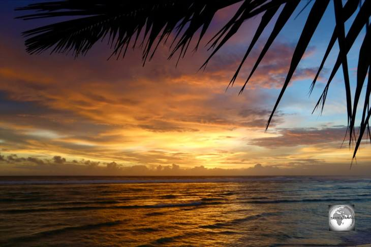 The end of another day in paradise as the sun sets on West Island, the main tourist hub on the Cocos (Keeling) Islands.