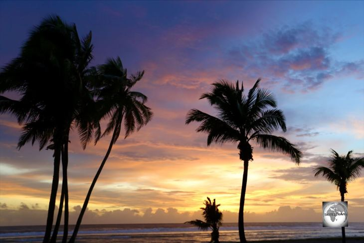 Sunset on West Island, Cocos (Keeling) Islands.