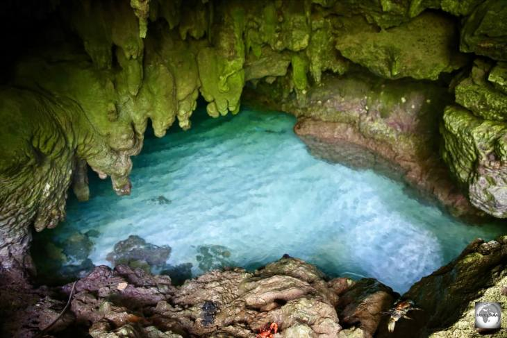 The Blue grotto is located on the North coast of Christmas Island.