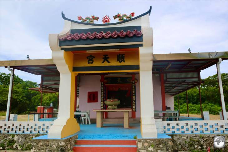 A Chinese Buddhist temple at South Point, Christmas Island.