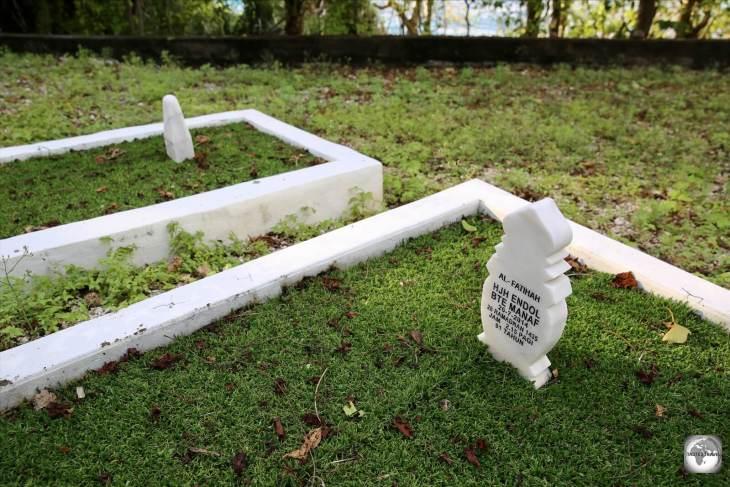 Gravestones at the Muslim cemetery on Christmas Island.