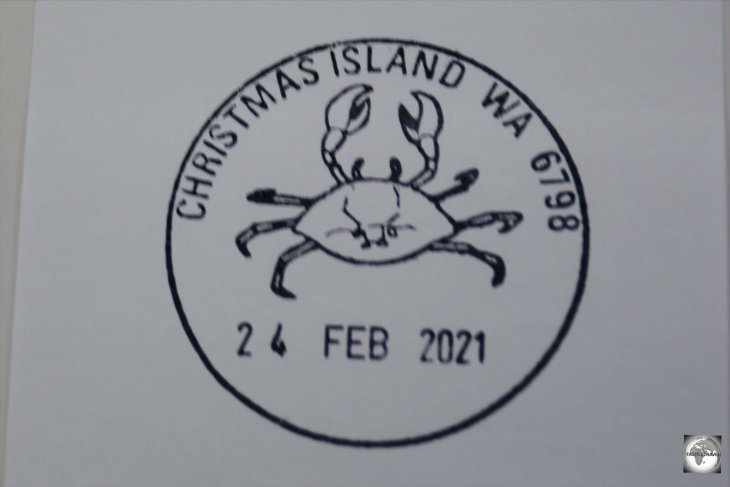 Christmas Island postmark.