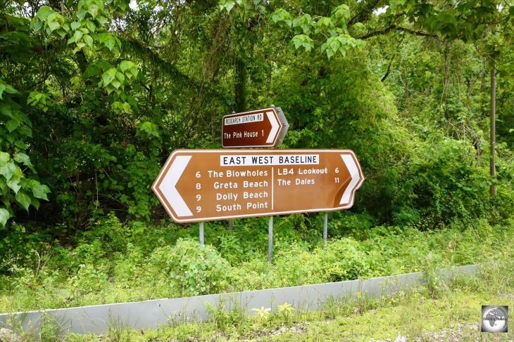 A road sign on Christmas Island.
