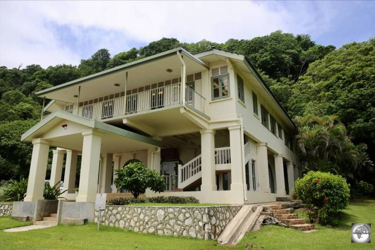 <i>Tai Jin house</i> is the former Administrator's House, a heritage-listed former official residence and now the Christmas Island museum.