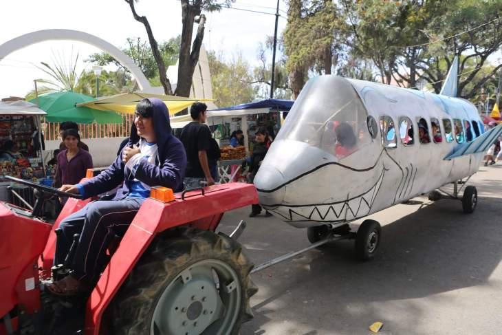 A children's amusement ride in Sucre, the capital of Bolivia.