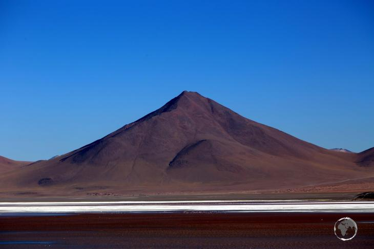 The ochre-red colour of Laguna Colorada, is caused by red sediments and algae in the water.