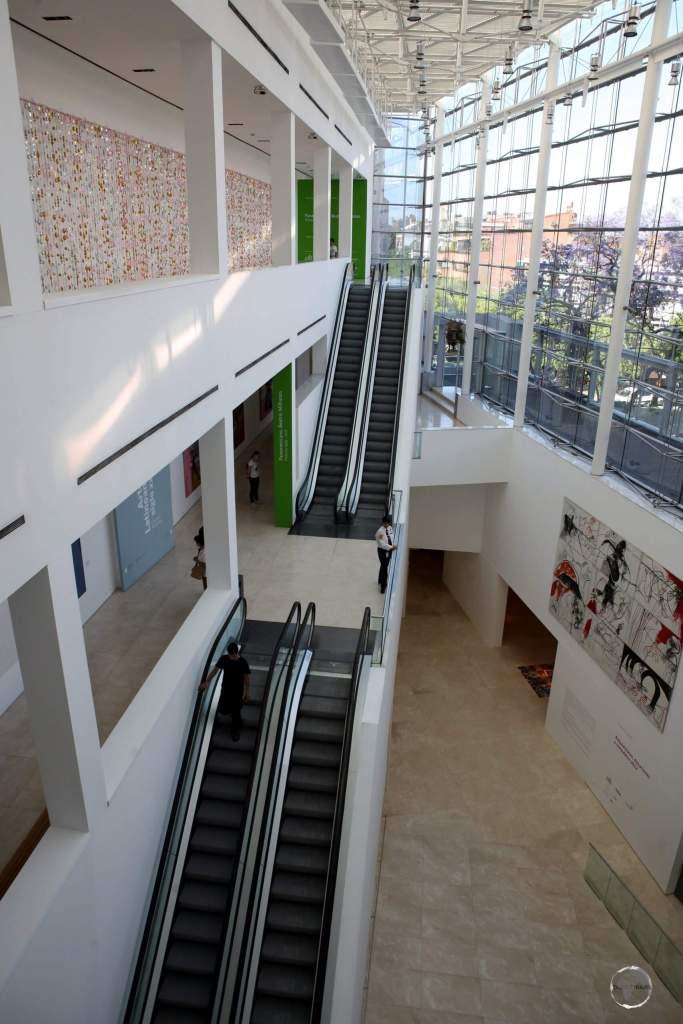 A view of the 'Museo de Arte Latinoamericano de Buenos Aires' (MALBA), a cultural highlight of Buenos Aires.