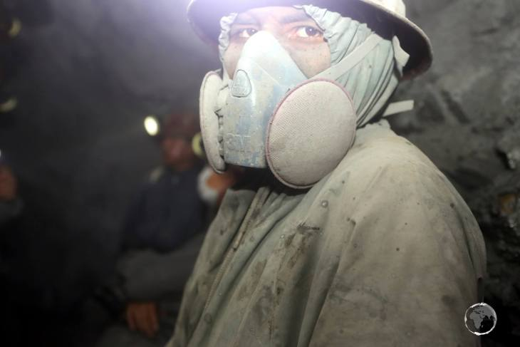Despite the health risks and shorten life expectancy, the 16,000 miners who work inside Cerro Rico have few other employment options, but are taking some precaution against the hazards.