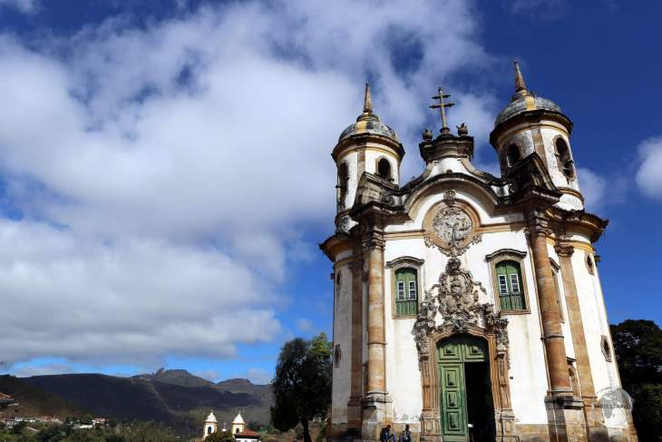 Constructed in 1768, the perfectly preserved Church of Francis of Assis is one of Ouro Preto's most famous architectural landmarks.