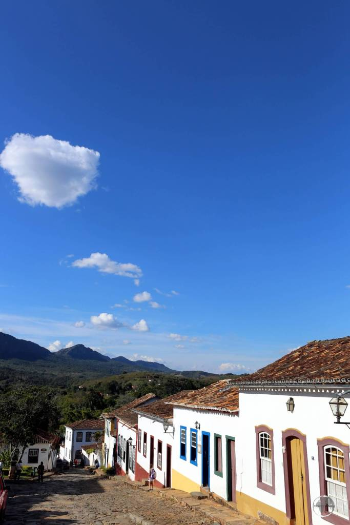 A view of the picturesque streets of Tiradentes, an historic town in Minas Gerais state.